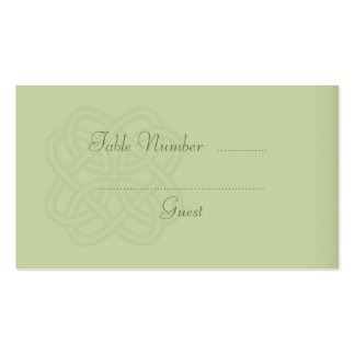 Green Celtic Knot Wedding Table Place Cards Pack Of Standard Business Cards