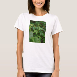 green celtic t-shirt woodland leaves