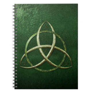 Green Celtic Trinity Knot Notebooks