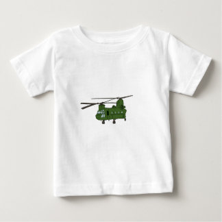 Green CH-47 Chinook Military Helicopter Baby T-Shirt