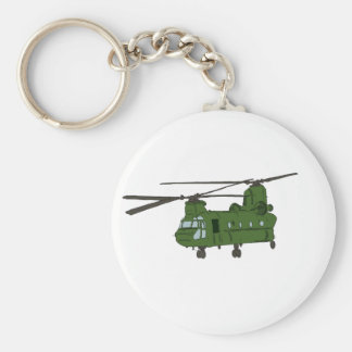 Green CH-47 Chinook Military Helicopter Key Chain