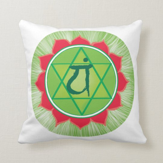 Green Chakra Heart Chakra Anahata Pilliow Cushion