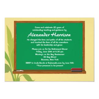 Green Chalkboard Teacher's Retirement Invitation