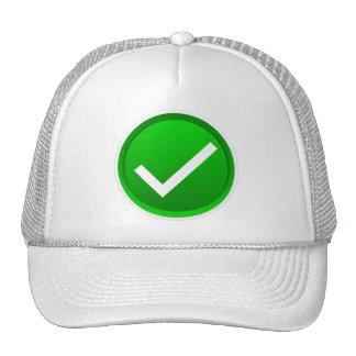 Green Check Mark Symbol Trucker Hat