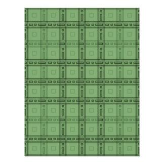 Green Check Pattern. 21.5 Cm X 28 Cm Flyer