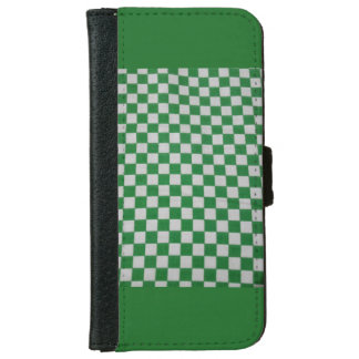 Green checked iPhone case