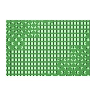 GREEN Checks and Sparkles Strips NOVINO Graphics Gallery Wrapped Canvas
