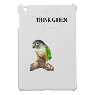 Green Cheek Conure Think Green iPad Mini Cover