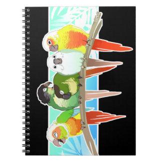 Green Cheek Conures Spiral Notebook