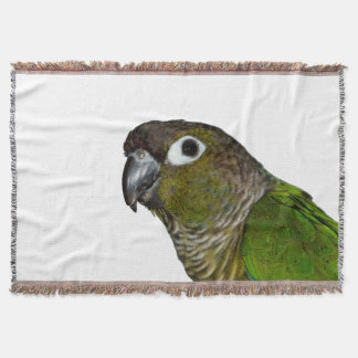 Green Cheeked Conure Throw Blanket