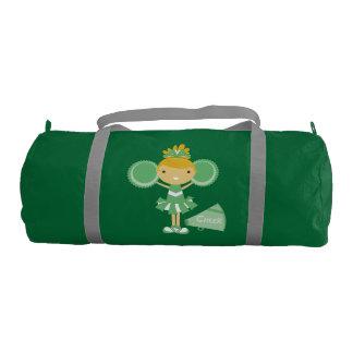 Green Cheerleader Duffle Bag Gym Duffel Bag