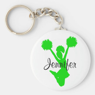Green Cheerleader Key Chain