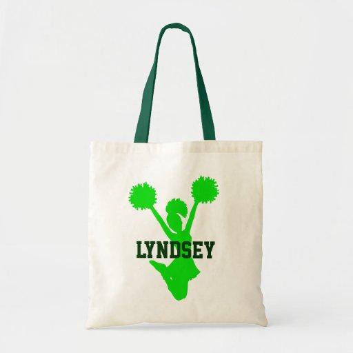 Green Cheerleader Tote Bag