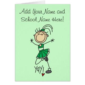 Green Cheerleader Tshirts and Gifts Card