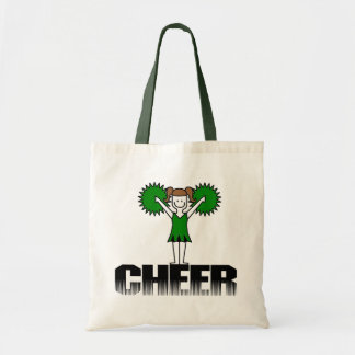 Green Cheerleading T-shirts and Gifts Tote Bag