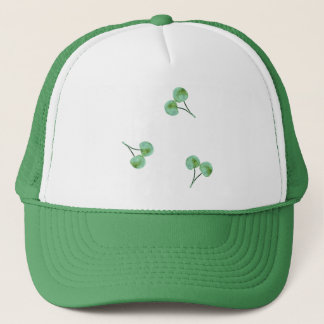 Green Cherry Pattern Cap