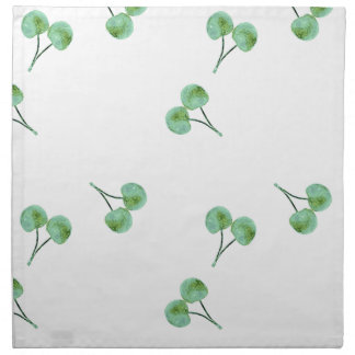 Green Cherry Pattern Napkin