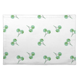 Green Cherry Pattern Placemat
