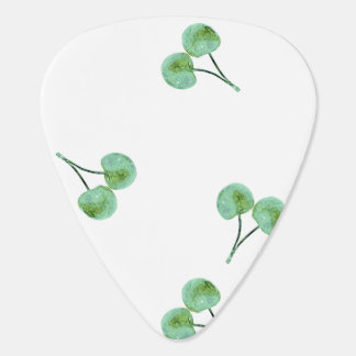 Green Cherry Pattern Plectrum