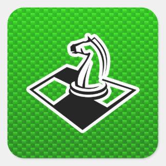 Green Chess Square Sticker