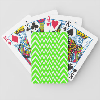 Green Chevron Illusion Bicycle Playing Cards