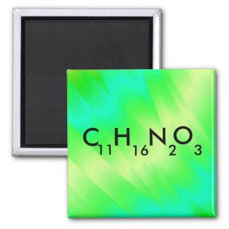 Green Chevron Molecular Formula Science Fun Magnet