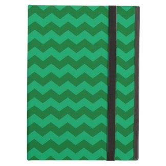 Green chevrons iPad air case