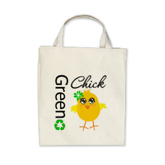 Green Chick Tote Bags