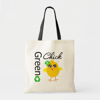 Green Chick Budget Tote Bag