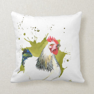 Green Chicken Cushion, Pillow ,Chickens