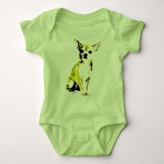 Green Chihuahua Cute Baby Bodysuit