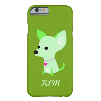 Green Chihuahua Monogram Barely There iPhone 6 Case