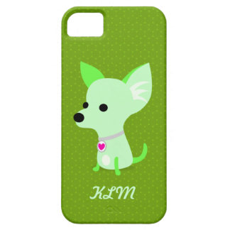 Green Chihuahua Monogram iPhone 5 Cases