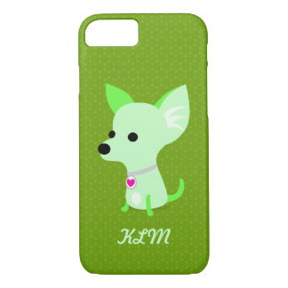 Green Chihuahua Monogram iPhone 7 Case