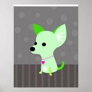 Green Chihuahua print