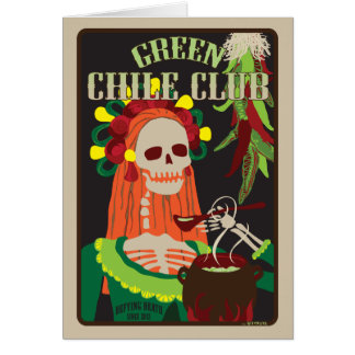 green chile club note card