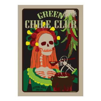 green chile club poster