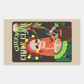 green chile club rectangular sticker