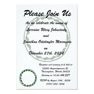 Green chili circle design 13 cm x 18 cm invitation card