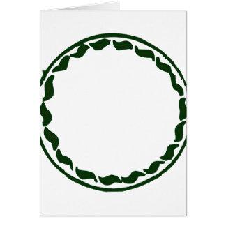 Green chili circle design greeting card