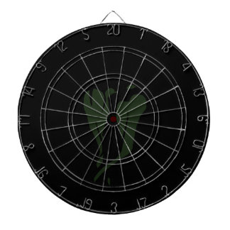 Green chili pepper two dancing abstract dartboard