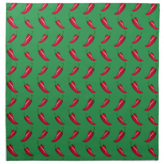 green chili peppers pattern napkin