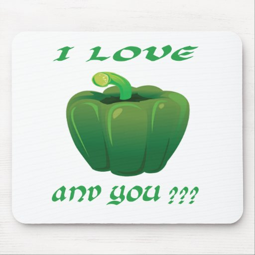 Green chilli. mouse pad