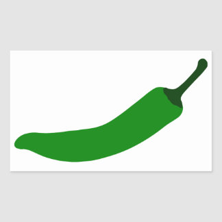 Green Chilli Rectangular Sticker