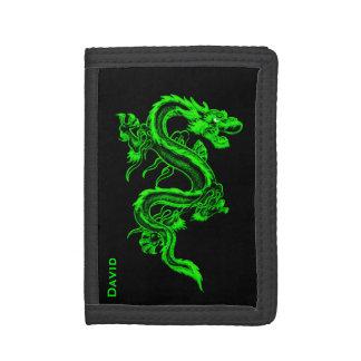 Green Chinese Dragon Custom Wallet