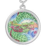 Green Chinese Dragon Pendant