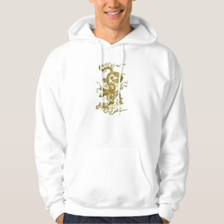 Green Chinese dragon with Lettering Hoodie