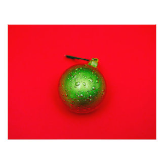 Green Christmas bauble 21.5 Cm X 28 Cm Flyer