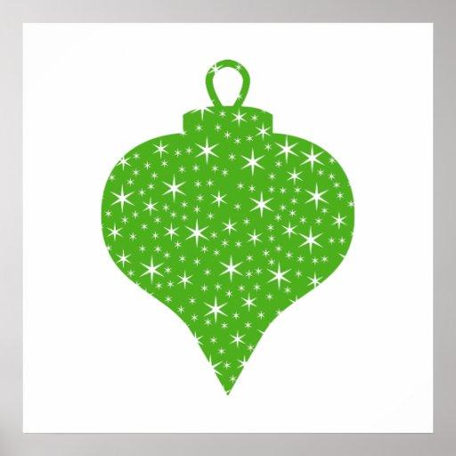 Green Christmas Bauble Design. Print