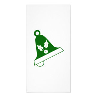 Green Christmas Bell Photo Card Template